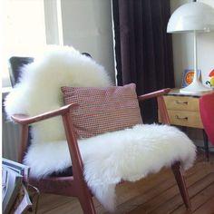 Pele de carneiro assento tampa da cadeira almofada tapete macio cabeludo Plain pele de pele simples fofo área tapetes quarto falso tapete Mat 60 cm x 90 cm.R$67,38.
