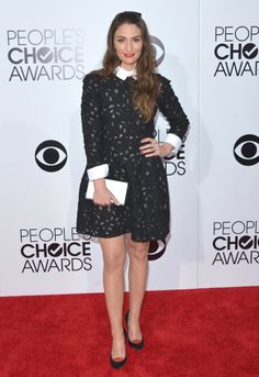 People's Choice Awards. Sara Bareilles con vestido de Jil Stuart. Enero 2014