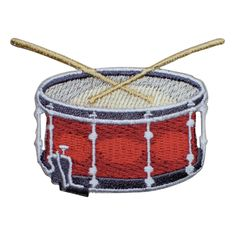 Snare Drum Applique Patch - Sticks, Music Equipment, Drumline (Iron on) x Iron On Collectible High quality Applique, Snare Drum, Drums, Sticks, Handmade Items, Patches, Iron, Etsy Shop, Drum