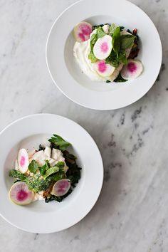 Market Fish + Charred Greens with Radish + Citrus Yogurt Dressing  Photo, Styling + Recipe | Karen Mordechai  Nature Nate's Raw & Unfiltered Honey