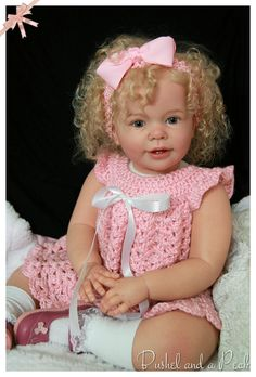 CUSTOM ORDER FOR KATIE MARIE TODDLER REBORN BABY DOLL  All of the photos show babies that were reborn by me, and show my actual work. I have been creating and selling professional quality reborn dolls since 2004.   This listing is for a custom-made reborn Katie Marie doll to be made according to your choices.. Kate Marie will be about 28 in. long and will wear 12-18 mo. size clothing. She has full arms and full legs that attach to a cloth body. You choose the gender, hair color, hairstyle…