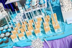 disney frozen sheet cake ideas | Disney's Frozen inspired birthday party with Such Cute Ideas via Kara ...