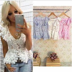 As cores dessa blusa peplum LINDA!!! Informações e vendas através do whats 14 99678-9168 ou 14 99645-5033 ❤️