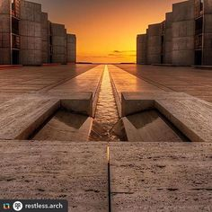 @restless.arch:When #Symmetry and #Light reach for perfection!😍 The Salk Institute is designed by Louis Kahn and is located in #LaJolla #California // Photo by Sairam Sundaresan #restlessarch #lajollalocals #sandiegoconnection #sdlocals - posted by WildLifeStyle - Paris - Mag  https://www.instagram.com/wildlifestyleparis. See more post on La Jolla at http://LaJollaLocals.com