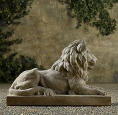 Bon Restoration Hardware Lion Statue
