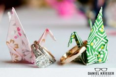 Cygne origami mariage