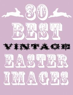 Printable vintage easter gift tags digital paper graphics printable vintage easter gift tags digital paper negle Images