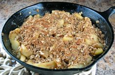 skillet apple crisp - done in 20 minutes