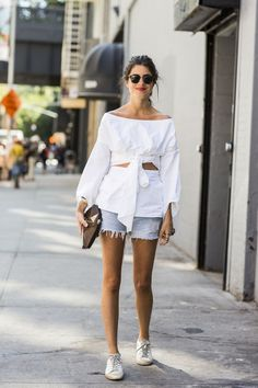 that Rosie Assoulin shirt is fantastic. Leandra in NYC. #LeandraMedine #ManRepeller