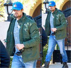 Actor Josh Duhamel wearing his K•WAY Manfield Thermo this past week. #KWAY #JoshDuhamel #menswear