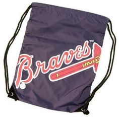 MLB Atlanta Braves Drawstring Backpack - Nylon Sack by Concept 1. $6.49. Grab your team back sack as you head out to the game.  This bag is the right size to carry all your items to the game.  This back sack is also wonderful to use everyday to show off your team spirit.. Save 74% Off!