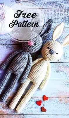 Bunny amigurumi crochet free pattern - Page 2 of 2 - Amigurumi patterns . - Bunny amigurumi crochet free pattern – Page 2 of 2 – Free amigurumi patterns, crochet amigurumi - Crochet Lion, Crochet Patterns Amigurumi, Amigurumi Doll, Crochet Bunny Pattern, Knitting Patterns, Giraffe Crochet, Crochet Snail, Amigurumi Free, Granny Pattern