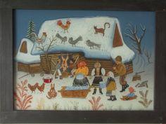 maľba na sklo Zabíjačka autor Zuzana Vaňousová