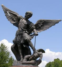 Archangel Michael slaying the devil, Saint Catherine Cemetery, New Haven, Kentucky