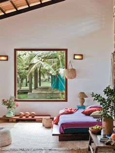 House by the sea framed by coconut trees in Ceará @Big House Love #bighouselove #bedroom #Brazil