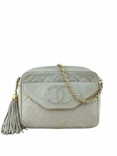 d05e6dfcecf606 Consigned Designs | Chanel Handbags | Beige Quilted Lambskin Tassel Camera  Case #chanel #Chanelhandbags
