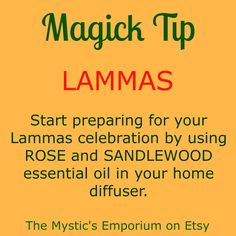 Lammas - Magick Tip - Click through to visit The Mystic's Emporium on Etsy!