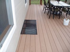 Deck solution for window well.  This is what I wanted for our porch that the contractor forgot to put in!!