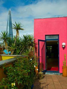 terrasse mur coloré
