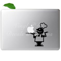 Bon Appetit Culinary Chef Decal For Macbook by StickerSwagger, $7.99