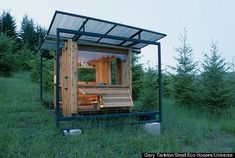 The eco-friendly, 70-square-foot Watershed House makes for small space elegant living #eco-friendlyhomes