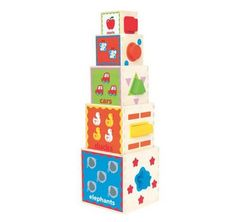 Hape Pyramid of Play Wooden Nesting Blocks #toys #baby