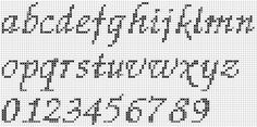 cross stitch alphabet patterns free | , alphabet - free cross stitch patterns and charts - www.free-cross ...