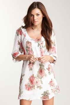 Adorable floral long tunic dress<3
