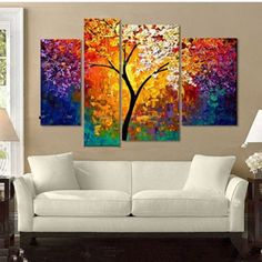 decorative gift wrap paper Picture - More Detailed Picture about Bright Life Tree Picture Painting Handmade Modern Abstract Oil Painting on Canvas Wall Art Home Decoration Gift No Framed Picture in Painting & Calligraphy from TBM Art Decoration Stor Abstract Pictures, Oil Painting Abstract, Painting Art, Art Oil, Landscape Paintings, Abstract Landscape, Oil Paintings, Painting Inspiration, Canvas Wall Art
