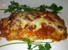 A Low Carb outstanding tasty Lasagna, with chicken breast,and Eggplant