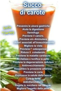 In Naturopatia si dice che il succo di carota  e la salute vanno di pari passo.     Esso fornisce i nutrienti essenziali necessa...