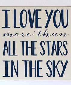 Look what I found on #zulily! Cream & Navy 'More Than All the Stars' Wall Sign #zulilyfinds