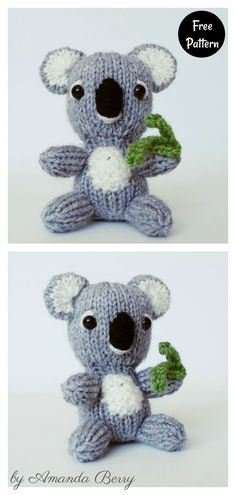 Kimmy Koala Amigurumi Free Knitting Pattern Knitting Patterns Free, Free Knitting, Free Pattern, Homemade Toys, Crochet Projects, Weaving, Christmas Gifts, Dolls, How To Make