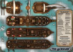 final fantasy airship map - Google Search Dungeons And Dragons Homebrew, D&d Dungeons And Dragons, Pathfinder Maps, Castle Crafts, Ship Map, Building Map, Dungeon Maps, Tabletop Rpg, Map Design