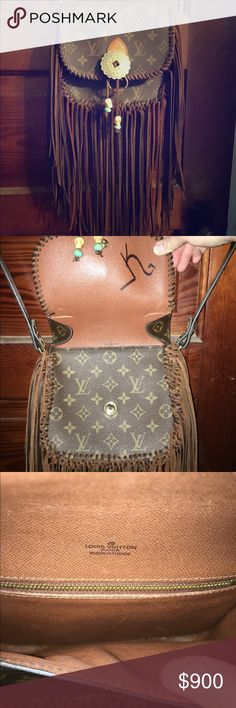 Louis Vuitton cross body bag by leather&vodka! Gorgeous revamped Louis Vuitton Crossbody bag by leather and vodka! Got it a couple months ago and have decided it is too small for me only selling to buy a bigger one! Louis Vuitton Bags Crossbody Bags