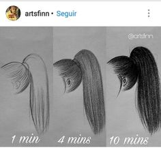 Drawing Hairstyles for Your Characters Drawing Hair Tutorial, Drawing . - Draw hairstyles for your characters drawing Hair tutorial, drawing - Cool Art Drawings, Pencil Art Drawings, Art Drawings Sketches, Realistic Drawings, Easy Drawings, Sketch Art, Drawings Of Hair, Drawing Hair Tutorial, Hair Sketch