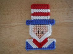 Uncle Sam Magnet  Plastic Canvas by ShanaysCreation on Etsy, $3.00