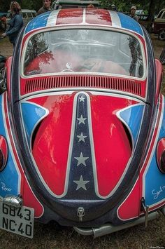 VW Beetle Captain America... Great American Hero...Re-pin Brought to you by Agents of #carinsurance at #HouseofIns in #EugeneOregon