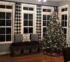 Farmhouse Curtains, Country Curtains, Farmhouse Decor, Kitchen Curtains, Plaid Living Room, Living Room Drapes, Drapes And Blinds, Drapes Curtains, Cotton Curtains