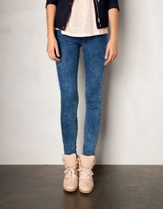 LEGGINGS WITH ELASTICATED WAISTBAND - JEANS - WOMAN - Greece