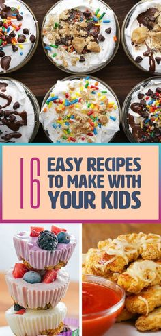 fun recipes to make with kids ~ fun recipes ; fun recipes for dinner ; fun recipes for kids ; fun recipes for kids to make ; fun recipes to try ; fun recipes for dinner healthy ; fun recipes to make with kids Recipes Kids Can Make, Easy Meals For Kids, Fun Easy Recipes, Desserts To Make, Kids Meals, Food To Make, Cooking Recipes For Kids, Delicious Recipes, Recipes For Children