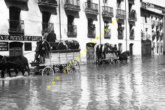 Valladolid inundado cual Venezia por el Rio Esgueva en 1924,actualmente desviado del centro de la ciudad.