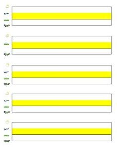 This paper provides extra support for students who have difficulty writing within the lines.  In addition to highlighting this paper also includes picture cues for Fundations including sky line, plane line, grass line and worm line.