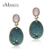 Aliexpress.com : Buy eManco Vintage Hanging Drop Dangle Earrings for Women Crystal Opal Antique Geometric Pendant Ear Brand Fashion Jewelry from Reliable dangling earrings for women suppliers on e-Manco Official Store