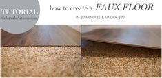 PHOTOGRAPHERS:  How To Make A Faux Floor In 20 Minutes & Under $20 No tools required & EASY!