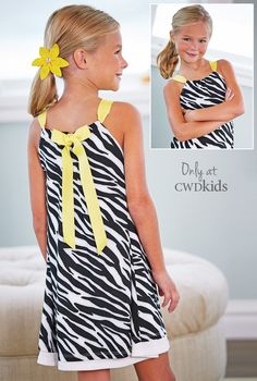 Only at CWDkids: Zebra Print Dress