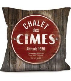 Coussin Chalet des Cimes #idée #déco #chalet