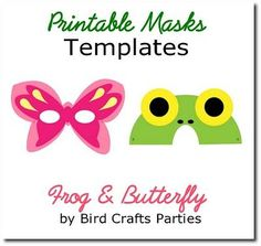 Printable mask template... for party photo booth