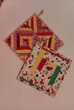Potholders by peachykeenquilts, via Flickr