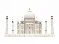 Taj Mahal paper craft kit for building your own by PaperLandmarks